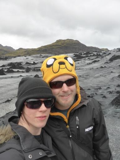 Iceland glacier selfie